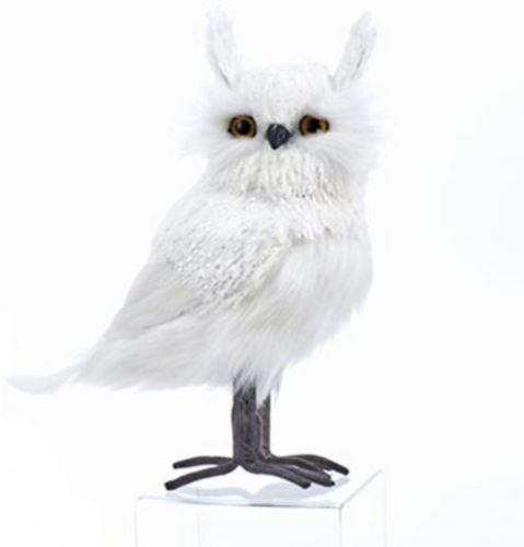 White Standing Owl With Ears