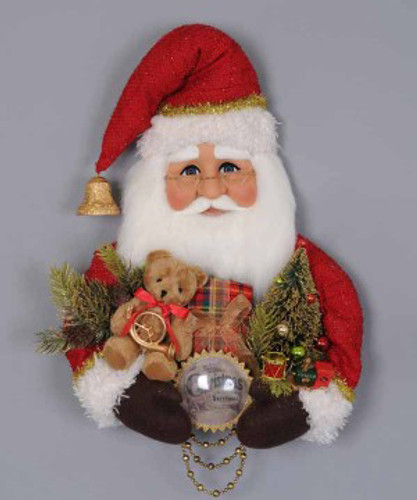 Karen Didion - Red Vintage Santa Head