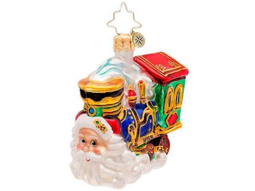 Radko - Choo Choo Claus Gem Ornament.