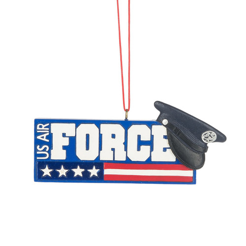 USA Army Force Plaque Ornament, with Stars and Stripes and Hat
