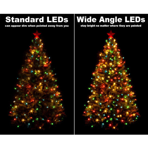 25 FT - COOL WHITE STRING LIGHTS - LED 5MM WIDE ANGLE (50 LEDS)