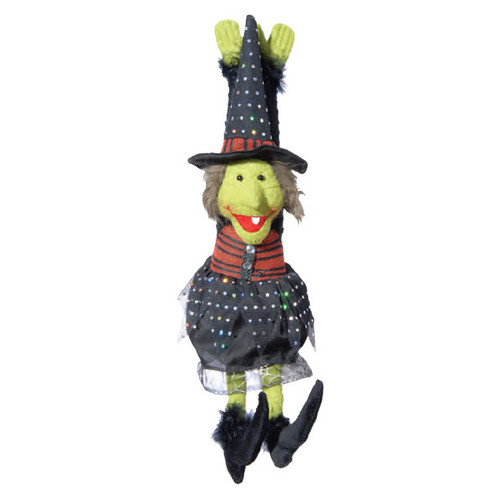 Halloween Musical Dancing Witch Door Hanger Decoration