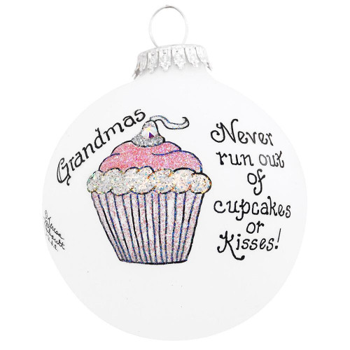Heart Gifts by Teresa- USA Made Grandma Cupcake  Ornament
