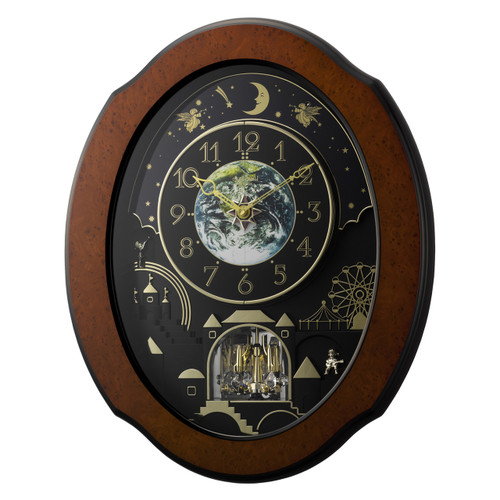 Musical Animated Timecracker  Wooden Cosmos  RHYTHM CLOCK **FREE SHIPPING**