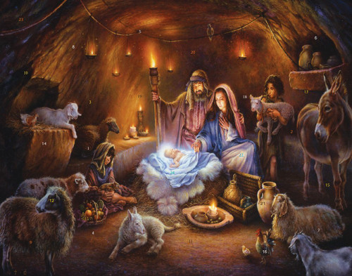 No Room at the Inn Picture Card Advent Calendar