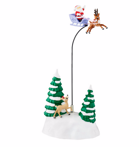 Department 56 Village Accessories - Up, Up & Away With Rudolph