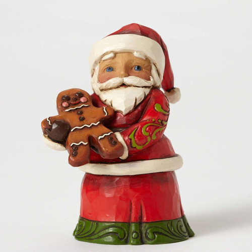 Jim Shore - Heartwood Creek - Santa with Gingerbread Man
