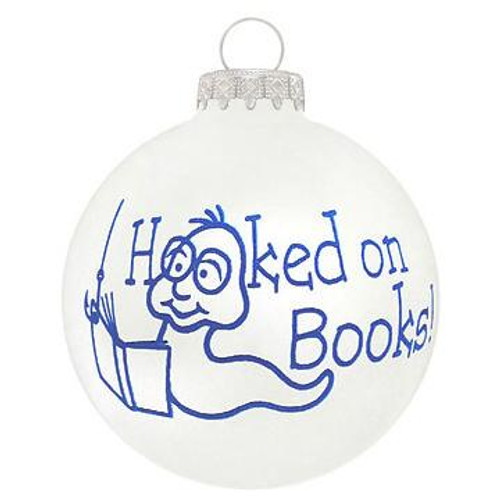 Hooked On Books Ornament