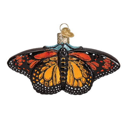 Old World Glass - Monarch Butterfly Ornament