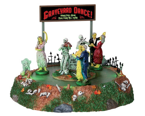 LEMAX Halloween -  Graveyard Dance - Spinning Dancers at Skeleton Musical Band