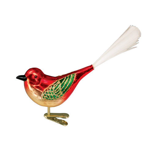 Old World Glass - Cheery Songbird Ornament