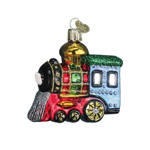 Old World Glass -Small Locomotive Ornament