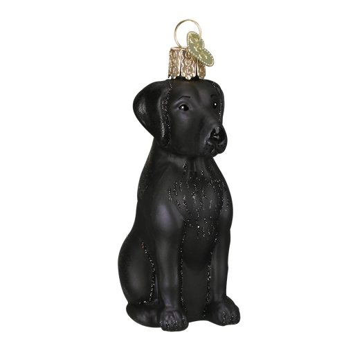Old World Glass - Black Labrador Ornament