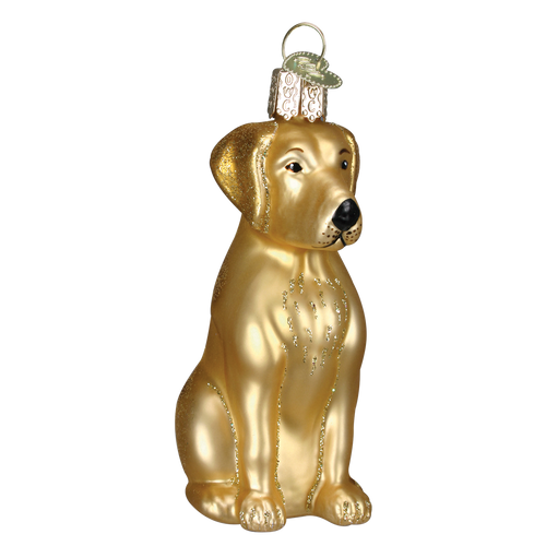 Old World Glass - Yellow Labrador Ornament