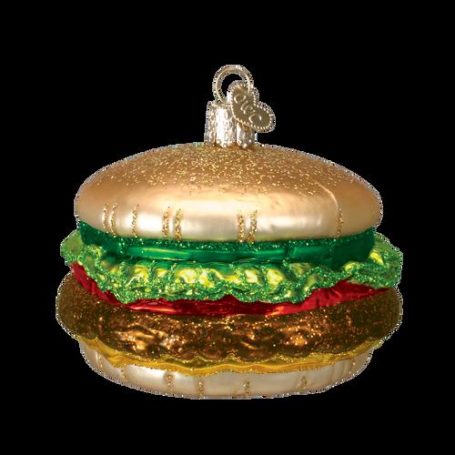 Old World Glass -Cheeseburger Ornament