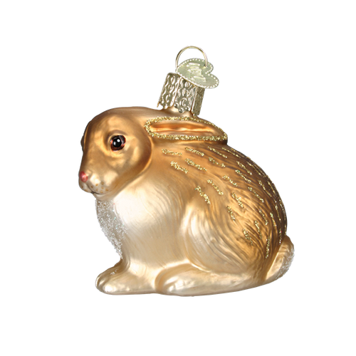 Old World Glass - Brown Cottontail Bunny Ornament