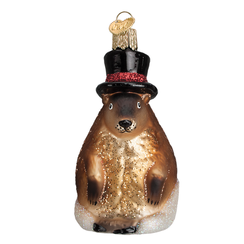 Old World Glass - Groundhog Ornament