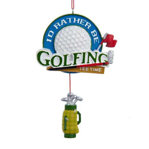 I'd Rather Be Golfing Ornament