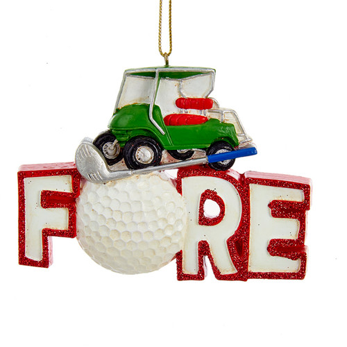 "Golf ""Fore"" Ornament"