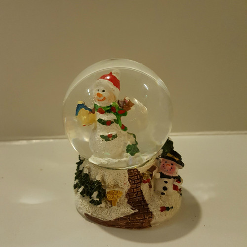 Snowman Mini Snow Dome