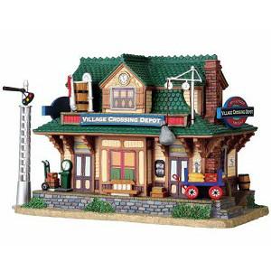 lemax village crossing depot set of 2 the christmas loft. Black Bedroom Furniture Sets. Home Design Ideas