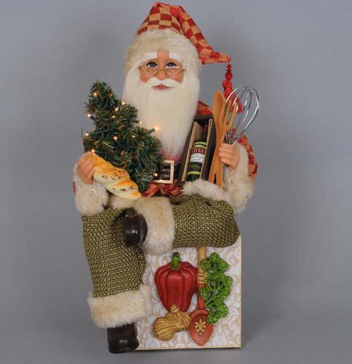 24 Musical Lighted Caroler Family Christmas Table Top: Lighted Tuscan Cuisine Santa