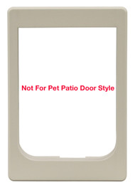 Large Size Plastic Chubby Kat Outside Frame. Also Fits Medium Pet Flap and Hefty Kat Models