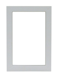 Small Size Plastic Outside Frame. Designed For Door With Rectangular Logo With Smooth Metal Bar On Vinyl Flap.