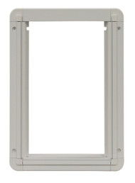 Medium Size Aluminum Inside Frame With Slots For Slide. Designed For Door With  Flexible 3-Part LEXAN» Plastic Flap.