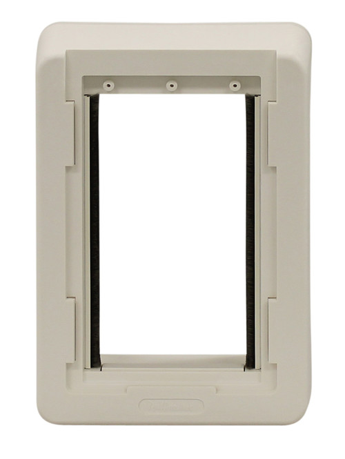Ruff weather replacement outside frame ideal pet products pet door ruff weather replacement outside frame small size plastic outside frame with out holes designed for door with double vinyl flaps eventshaper