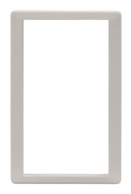 Medium Size Plastic Outside Frame. Designed For Door With Round Logo With Rivets On Metal Bar On Vinyl Flap.