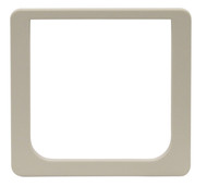 Small Size Cat Flap Plastic Outside Beauty Ring Frame For A Fast-Fit Patio Door Or Aluminum Modular Patio Door. For Cat Flap Door Insert Only.
