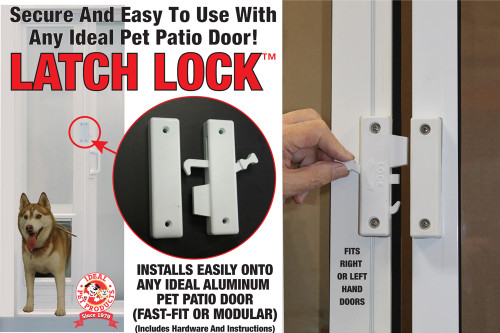 Image 1 & Pet Patio Door Latch-Lock u2014 FREE SHIPPING! - Ideal Pet Products