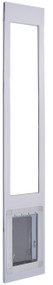 "900 Series™ 96"" Tall ""Double Flap"" Dual Pane Glass Pet Patio Door-White — FREE SHIPPING!"