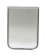 "Medium Size Chubby Kat 7-1/4 X 10-1/2"" FLAP Has Solid LEXAN» Plastic Flap/Plastic Frame In A Fast-Fit Patio Door Or Aluminum Modular Patio Door. For Chubby Kat Door Insert Only."