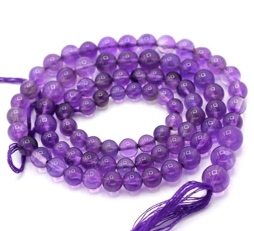 "14"" Strand Approx 4-8mm Graduated Amethyst Round Beads"