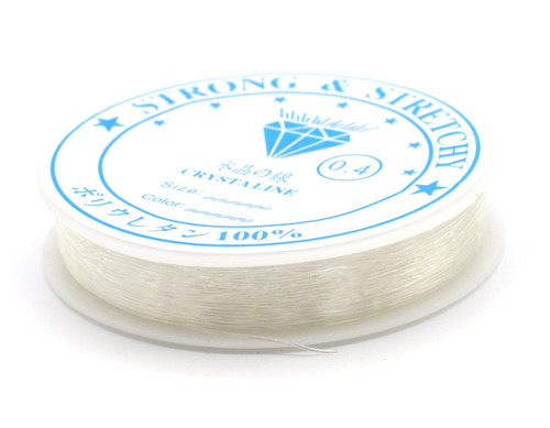 Approx 40-Foot Spool of 0.4mm Stretch Cord, Clear