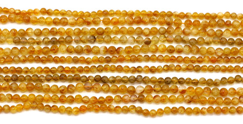 "RANDOM PICK-- 1 Strand 5-6mm 14"" Citrine Round Beads"