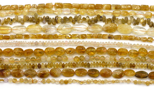 "GRAB BAG SPECIAL-- 14"" Strand Citrine Gemstone Beads, Random Pick"