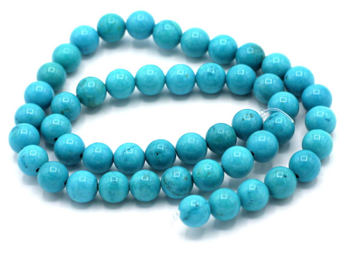 """15.5"""" 8mm Sinkiang Turquoise Round Beads"""