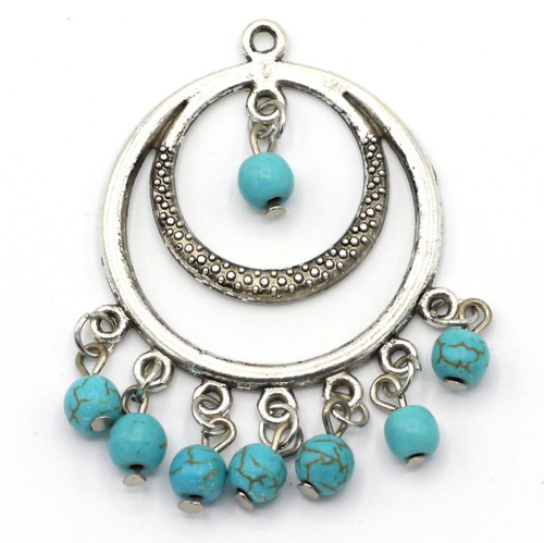 52mm Synthetic Turquoise Chandelier Focal