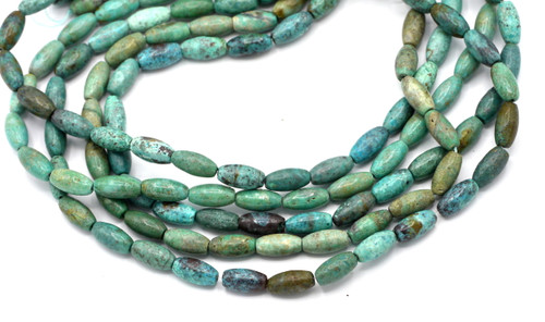 """15"""" 12x6mm Turquoise Oval Barrel Beads"""