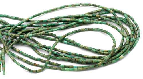 """15"""" Strand 4x2.5mm Turquiose Cylinder Beads"""