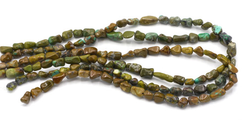 """15"""" Strand 8-15mm Turquoise Dogbone Nugget Beads"""