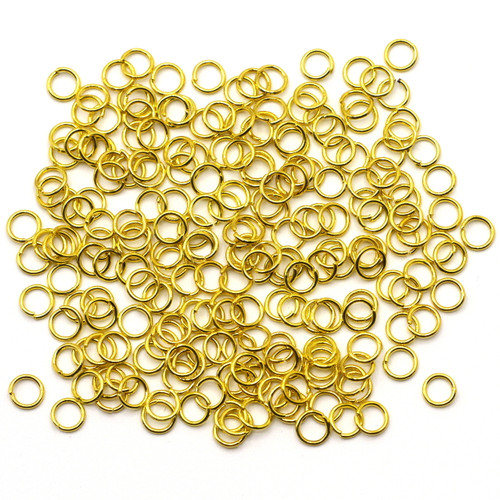 10-Gram Bag of 21 Gauge 5mm Jump Rings, Gold Finish