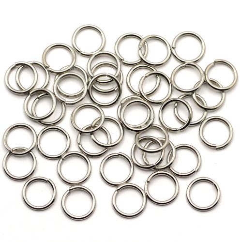 10-Gram Bag of 16 Gauge 10mm Jump Rings, Silver Finish