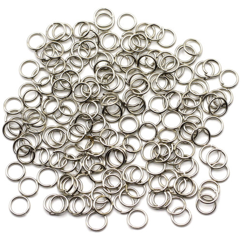 10-Gram Bag of 21 Gauge 6mm Jump Rings, Silver Finish