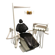 Adec Refurbished 500/511 Dental Chair (White Back) Package w/ Radius Delivery, Asst Arm, Radius Light
