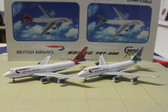 GEMINI JETS BRITISH AIRWAYS  747 TWIN PACK SCALE 1/400 GJBAWSET2 CK