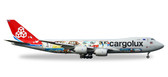 HERPA WINGS CARGOLUX BOEING 747-8  45TH ANNIVERSARY SCALE 1/200